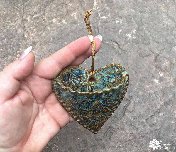 heart-shaped succulent pocket planter