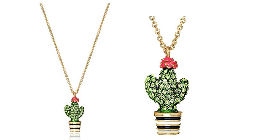 kate spade new york cactus pendant WITH CLOSEUP