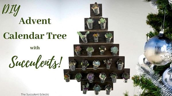 DIY advent calendar tree