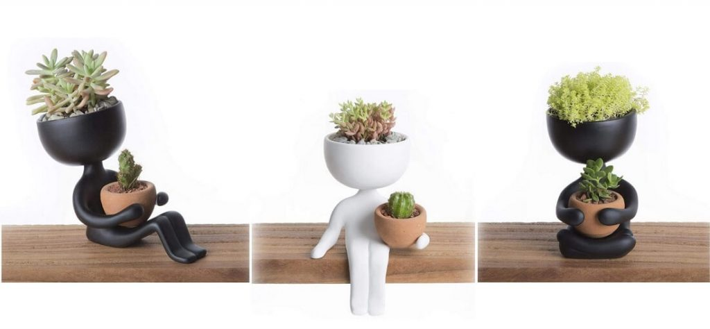 Handmade Ceramic People Planters for succulents