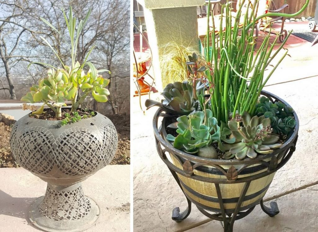 upcycling ideas - turn broken furniture into upcycled planters